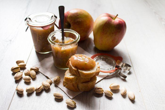 Confettura mele e pistacchi ricetta