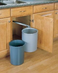 20 best pull out trash cans images on pinterest waste container closet storage bins and kitchens. Black Bedroom Furniture Sets. Home Design Ideas