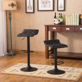 Shop for Belham Swivel Black Bonded Leather Adjustable Bar Stool, Set of 2. Get free shipping at Overstock.com - Your Online Furniture Outlet Store! Get 5% in rewards with Club O!