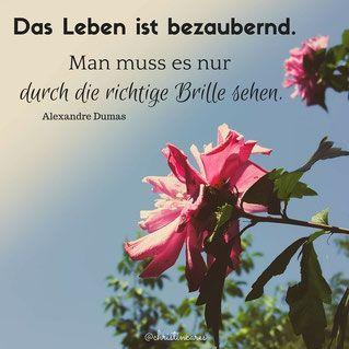 Das Leben ist bezaubernd. Man muss es nur durch die richtige Brille sehen. Alexandre Dumas