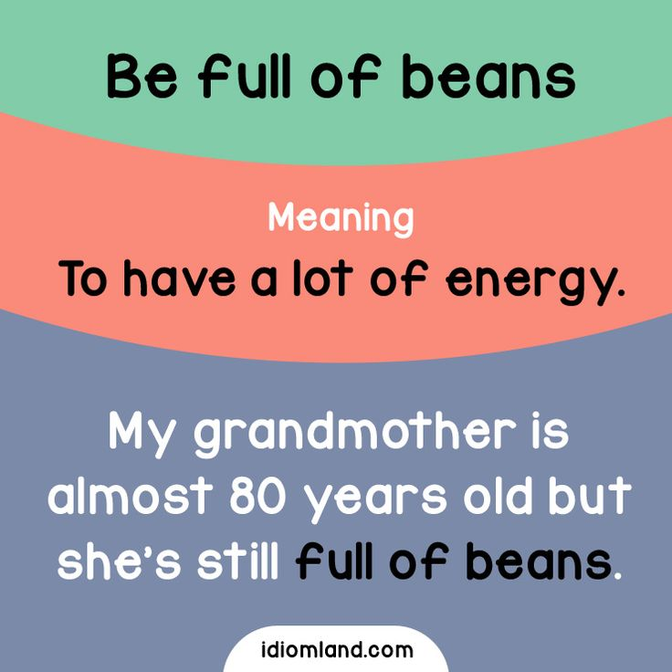 Are you full of beans? #idioms #english #learnenglish #englishidioms