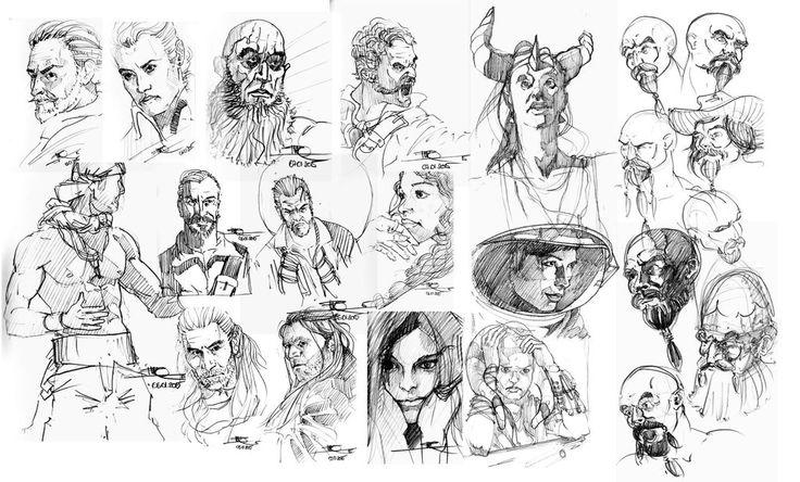 All the sketches by markopudar.deviantart.com on @DeviantArt