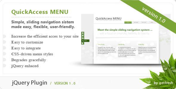 JavaScript - QuickAccess Menu | CodeCanyon