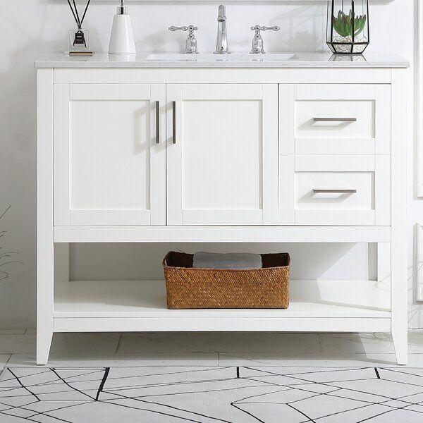 Beachcrest Home Caoimhe 42 Single Bathroom Vanity Set Reviews Wayfair Single Bathroom Vanity Bathroom Vanity Vanity White bathroom vanity set