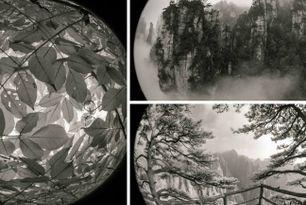Fotógrafo usa lente fisheye para retratar paisagens da China...