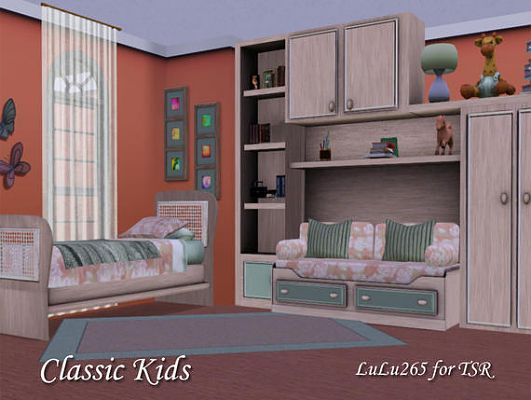 The Sims Resource: Classic Kids Bedroom by Lulu265