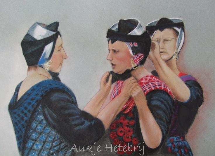Dutch Staphorst traditional costume  Softpastel