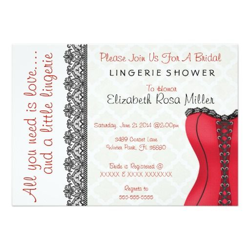 Lingerie Bridal Shower Invitations - MyExpressioncom