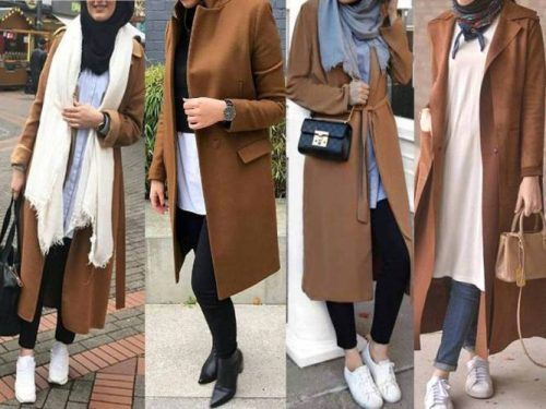 Winter colorful coats with hijab – tan coats with hijab- Just Trendy Girls