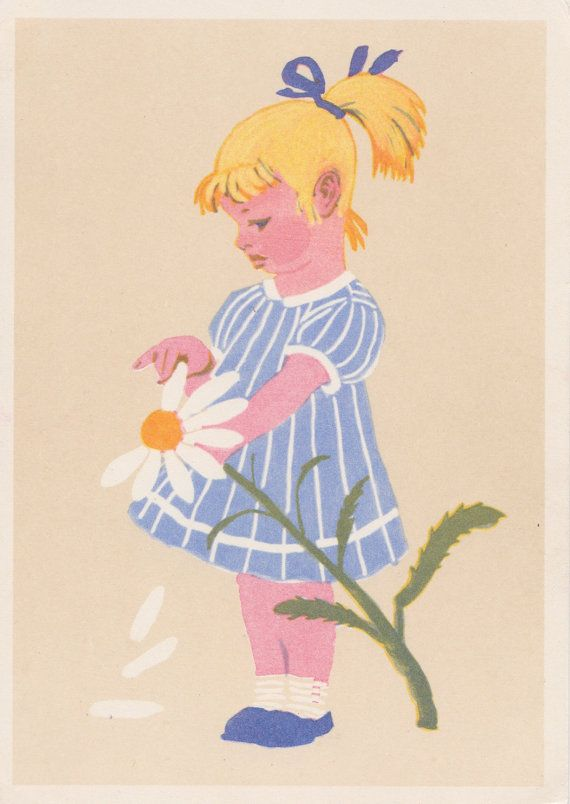Postcard Drawing by A. Laptev  1963 by RussianSoulVintage on Etsy