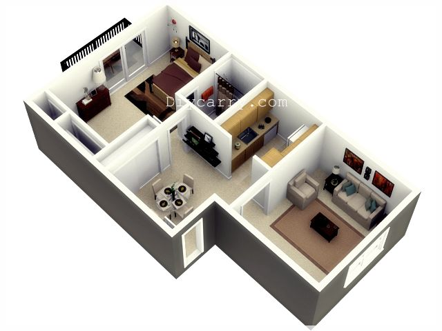 190 best 1 bedroom floor plans images on pinterest