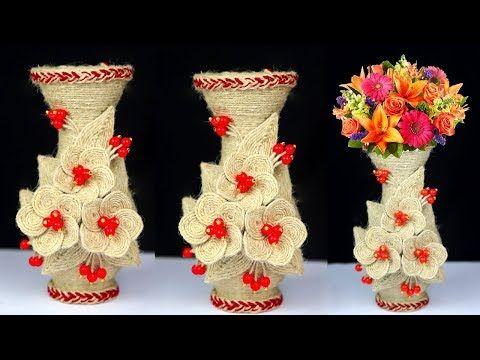 Style vintage vase en verre en fil métallique Panier Fleur Bourgeon Chic Mariage Décoration