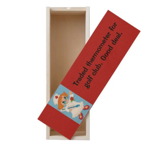 Traded Thermometer for Golf Club - Good Deal Wooden Keepsake Box