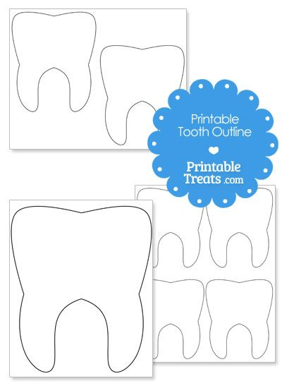 Printable Tooth Outline