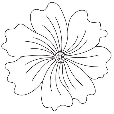 Flower Center - DIgital - Quilts Complete - Continuous Line Quilting Patterns