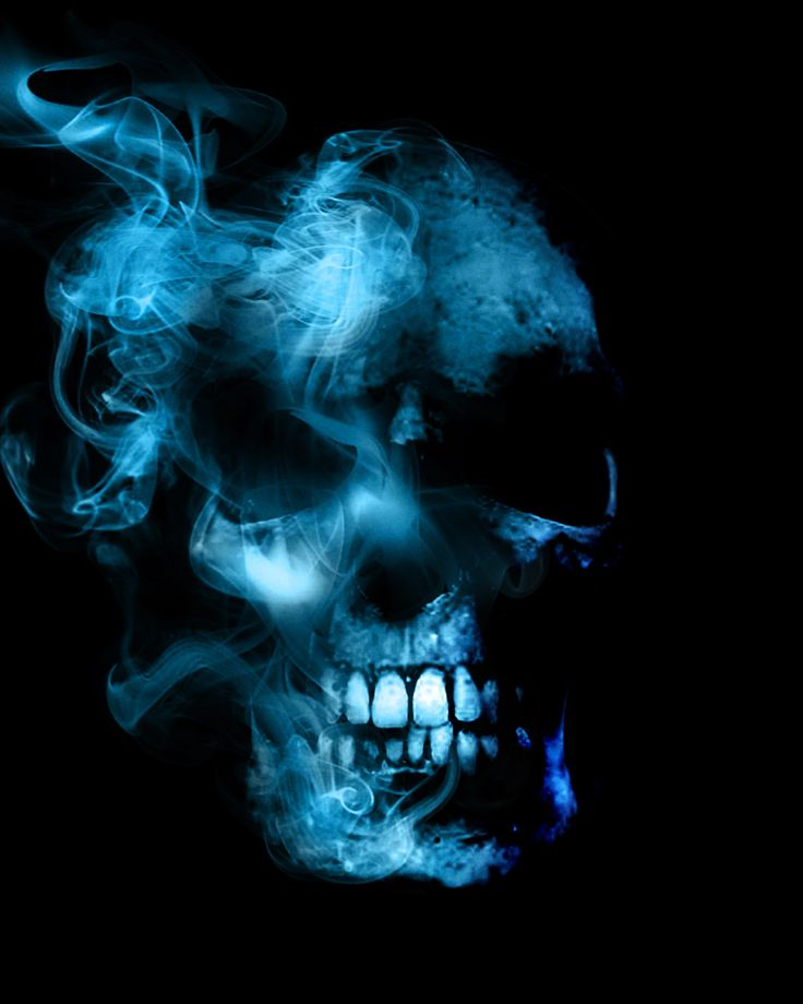 Cool Tattoo Backgrounds: Smoky Skull Is Smoky By I-am-mighty