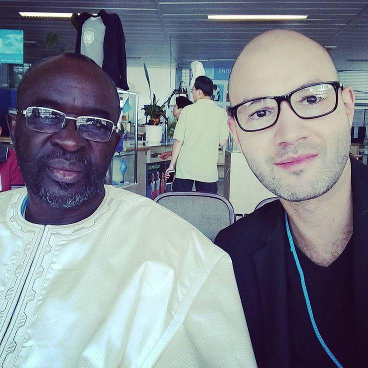 Rencontre avec mon grand frère Cisse Lo le président du Parlement de la zone CEDEAO ECOWAS aux Nations Unies.