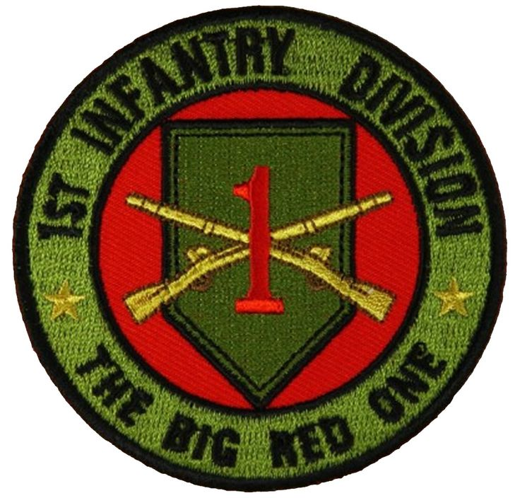 1ST INFANTRY DIVISION THE BIG RED ONE ROUND PATCH