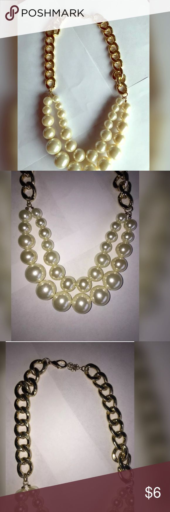 Re-posh Chunky pearl necklace Brand new I could never find anything to wear with it. Jewelry Necklaces