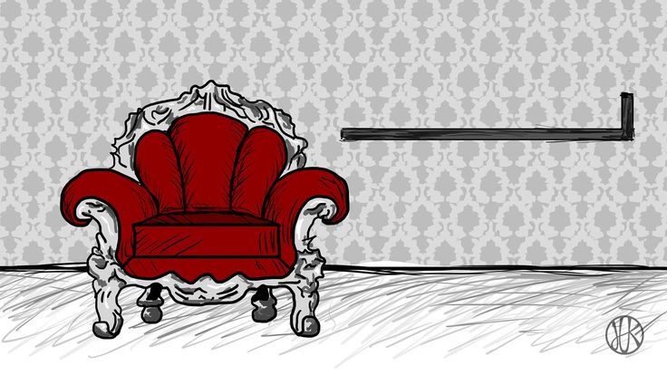 Drawing Amchair #drawing #armchair #luxury #red #gray #furniture