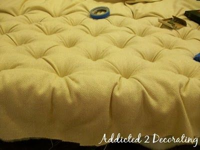 great tutorial for diamond tufting