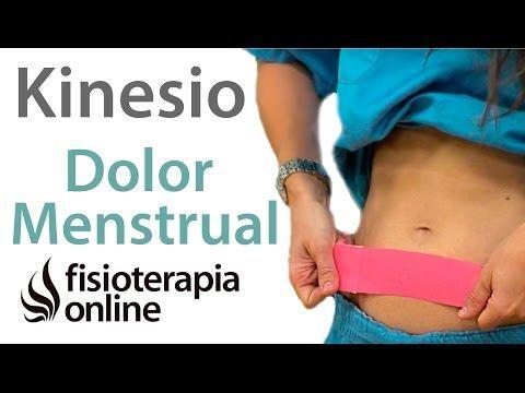Aplicación del kinesiotaping para el dolor menstrual. - YouTube