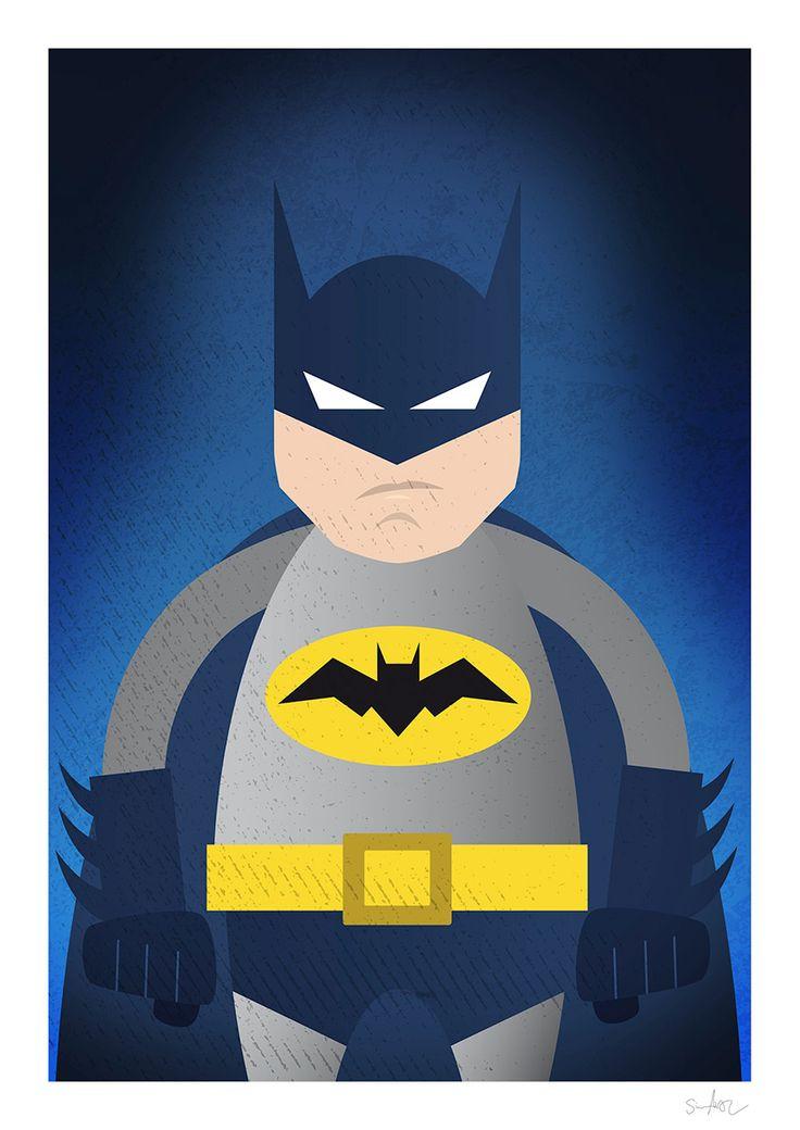 Batman illustration by Simon Ackeby #Batman #illustration #Poster #ackebydesign