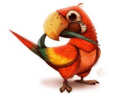 Daily Painting 611# Macaw by Cryptid-Creations