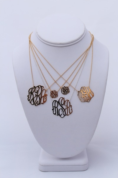 Gold Filled and Sterling Monogram Necklaces - Love the Minis {top}!  SwellCaroline.com