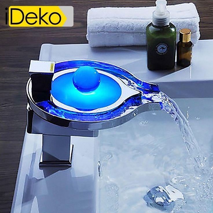 XXL  iDeko® Robinet Mitigeur de lavabo cascade LED & Flexible x 2