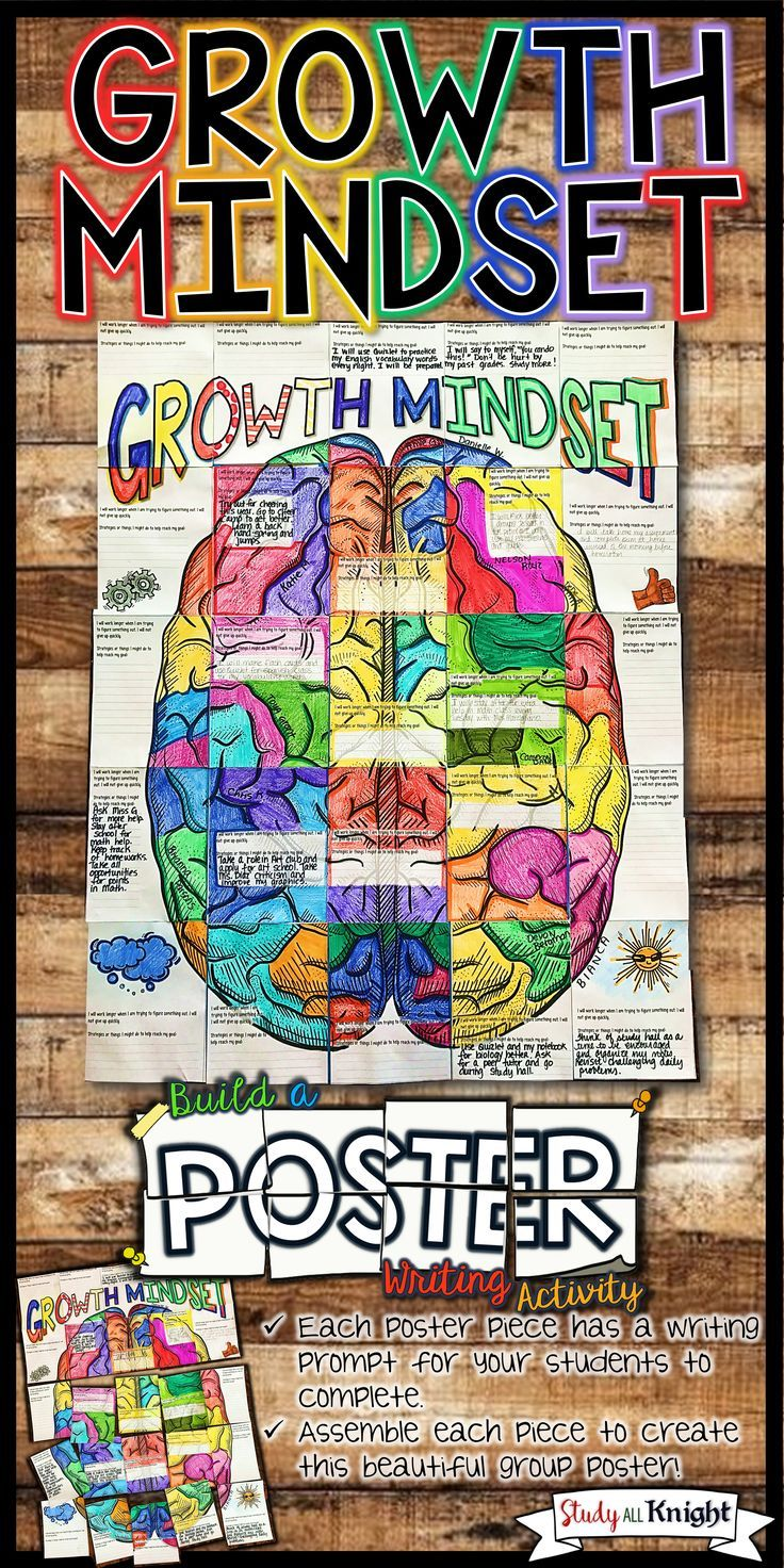 Growth Mindset Writing Activity and Collaborative Poster. Promote a Growth Mindset in your classroom with this collaborative poster. Features a goal setting writing prompt and brain friendly fun. You'll love watching your students collaborate. The activity is designed for students to communicate and work together. The writing activity is truly insightful and reflective of promoting a growth mindset, setting goals, learning strategies, and smart goals. ($)
