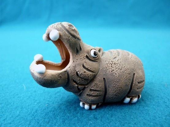 Leps Peru Art Clay Pottery Hippo by Guruzen | Collectors Quest collectorsquest.com.