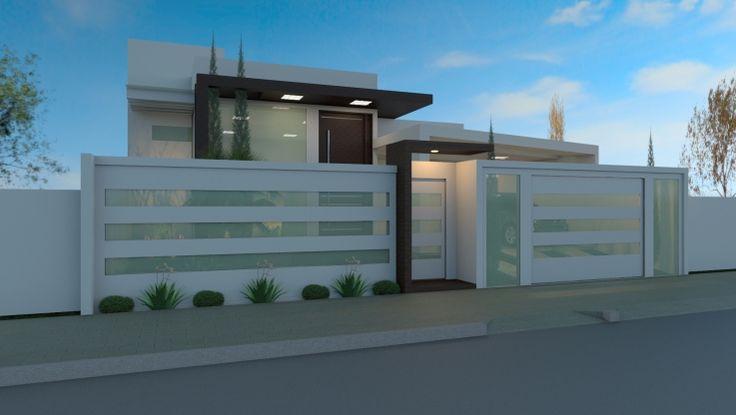 casas modernas com platibanda terreas - Pesquisa Google