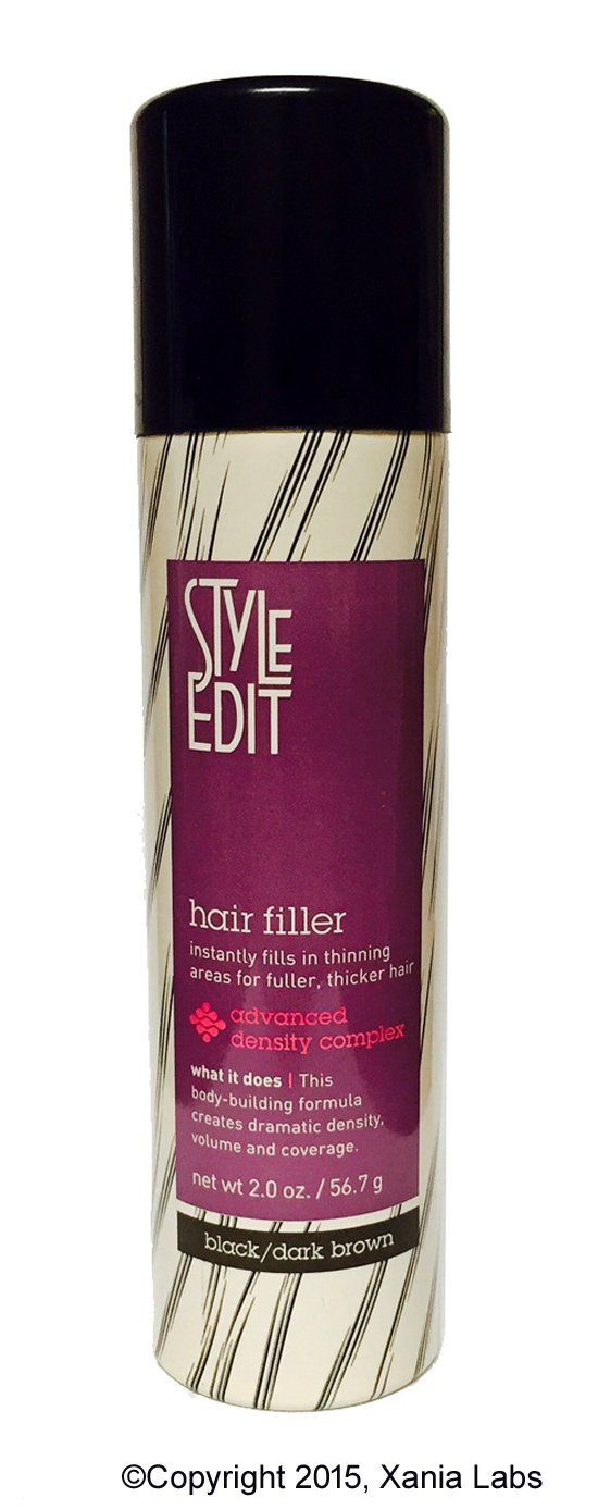 HAIR FILLER (BLACK/DARK BROWN) 2oz by Style Edit ® (Instantly Fills In Thinning Areas for Fuller, Thicker Hair) * Check out the image by visiting the link.