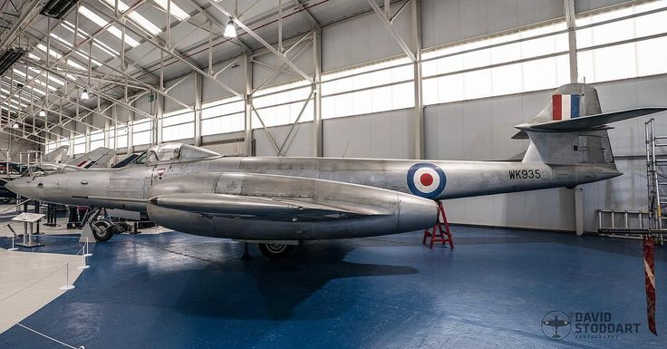 The ugliest plane ever??? Zoom in on the nose section! Its a Gloster Meteor F8 Prone. WK935. #rafcosford #warbirds #aviationphotography #glostermeteor #instaplane #militaryaviation #aircraftsphotos
