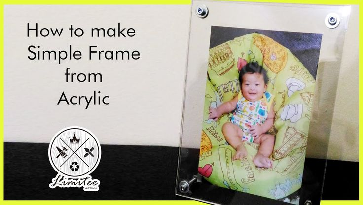 how to make simple acrylic frame at home (membuat frame akrilik)