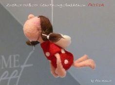 """Süßes Schutzengel-Mädchen """"FRIEDA"""", gefilzt von Filz-Michel auf DaWanda.com"""