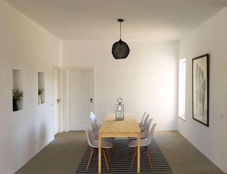 Pour diner avec les bons poissons frais achetés au marché d'Olhao ou sur le port de Fuseta quand prend cette belle maison en location en Algarve | Cabanabranca