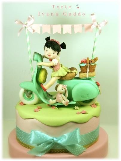 vespa vintage cake
