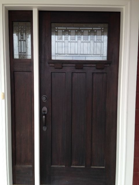 Classic Front Door With One Panel Sidelight 1 4 Front