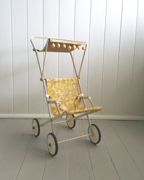 Toy Stroller Pusher Vintage Floral by SheAdoresVintage on Etsy