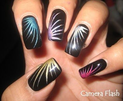 New Year's Eve Fireworks Nail Art Design Tutorial - Best 25+ New Years Nail Art Ideas On Pinterest New Year's Nails