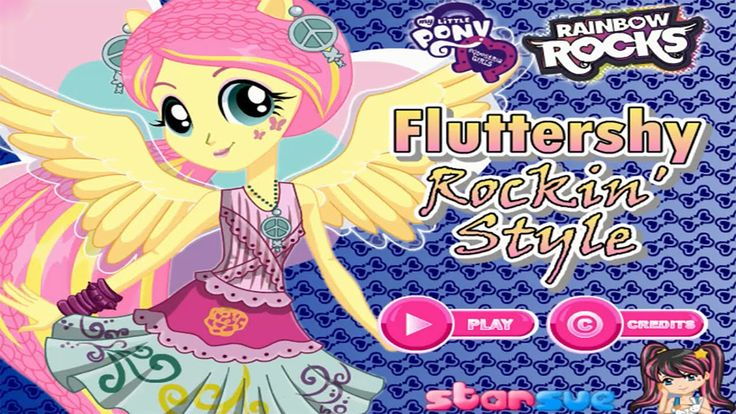 My Little Pony Equestria Girls Fluttershy Rocking Hairstyle Dress Up Game