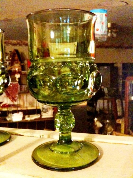 Green Glass $15.00 (set of 4).