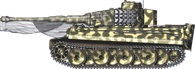 Tiger H/E camouflage patterns - Kursk, July 1943 3.SS-PzGrenDiv