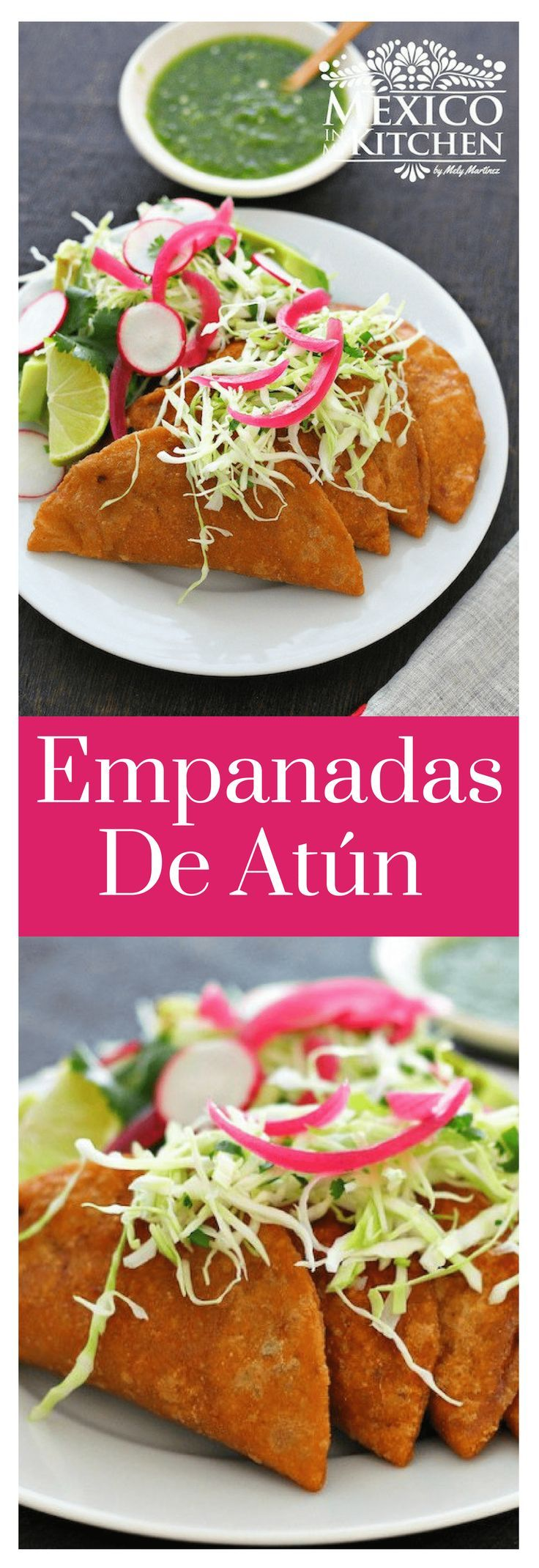Estas Empanadas de Atún me hacen recordar esos calurosos días de verano en la playa de mi ciudad natal de Tampico.#saboresdemexico #mexicoenmicocina #empanadas #atun