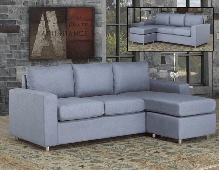 Sofa sectional with chaise - Chrome legs