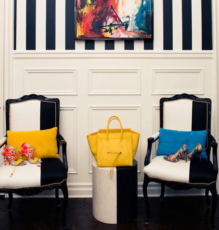 Céline sandwich, anyone? www.thecoveteur.com/kourtney-kardashian: Interior Design, Ideas, Kardashians, Black And White, Living Room, Home Decor, Kourtney Kardashian S, House, Homes