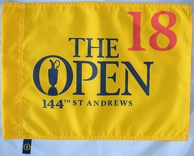 Golf 428: 2015 Official (St. Andrews) British Open Golf Flag -> BUY IT NOW ONLY: $49.95 on eBay!