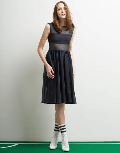 Le Ciel Bleu Nylon Mesh Dress